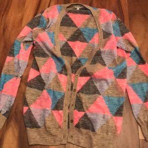 Madewell triangle cardigan